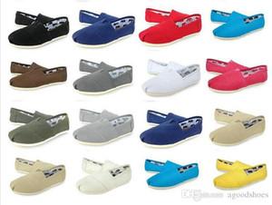 Brand New Donna Uomo Scarpe di tela Mocassini Casual Single Shoe Solid Sneakers Driving Shoes Unisex Tom Espadrille Scarpa da passeggio