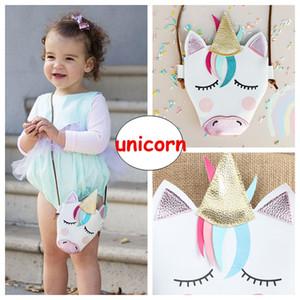 Bebek Kızlar Unicorn Messenger Çanta INS Çocuk Pu Deri Karikatür Çapraz çanta Çocuklar Mini Omuz Çantası