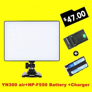도매 YN300 공기 3200k-5500k 캐논 니콘에 대 한 NP-F550 배터리와 충전기와 YN-300 공기 프로 LED 카메라 비디오 조명
