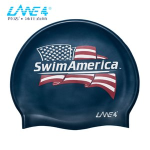 LANE4 Accessories FLAT SILICONE CAP Waterproof Durable Silicone Solid Color Lightweight Professional for child SWIM AMERICA