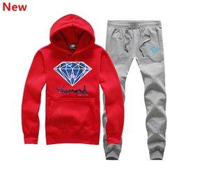 2018 New Style stampa diamante uomo felpa con cappuccio da donna street felpa calda felpa autunno inverno moda pullover XXXL X12
