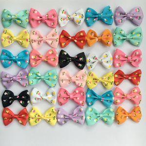 200pcs 1.4inch piccolo fiocco fai da te le fasce accessori Baby Boutique archi dei capelli senza coccodrillo per le ragazze