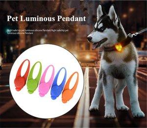 Alta Qualidade New Pet silicone LEVOU Lâmpada Do Cão Pingente de Incandescência Noite de Segurança de silicone Pingentes de luz para o cão arnês Collar Barato Q0544