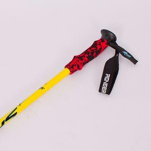 DHL 100PCS 2018 s Walking Cane Stick senderismo Alpenstock aluminio ajustable escalada Camping 6061-3