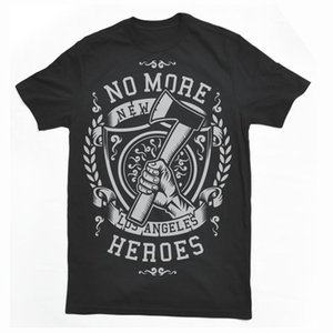 No More Heroes Fire Fighte New York La Ny Mashup Dtg Mens T Shirt Tees Uomo T Shirt Stampa Cotton Short Sleeve T Shirt