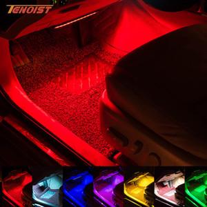 حار بيع 12 فولت 5050 رقائق 8 ألوان أضواء الداخلية توهج الديكور جو ضوء لسيارة suv 4 في واحد
