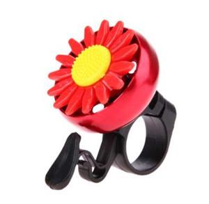 Bicycle Bell Bike Flower Ring Horn Bells Bicycle Handlebar Ultra-loud Crisp Alarm Bell Horns Metal Useful Safety Bike Red