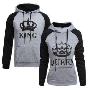 Giacca da strada sportiva da uomo casual da uomo e da donna con cappuccio re queen queen