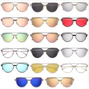 Toptan Vintage Lady Gül Altın Kedi Göz Güneş Kadınlar Marka Tasarım İkiz-Kirişler Optik Gözlük Çerçeve Erkekler Için Güneş gözlükleri Kadın oyuncaklar
