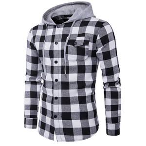 Neue West Hip Hop Kariertes Hemd Männer High Street Fashion Swag Kleidung Lose Hipster Longline Männlichen Langärmeligen Hoodie Shirt