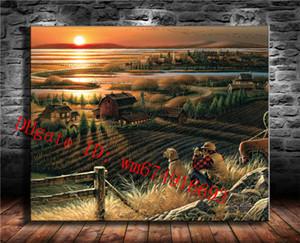 Terry Redlin Duck Farm Landscape, Canvas Canvas Home Decor HD Stampato Modern Art Painting on Canvas (Senza cornice / Incorniciato)
