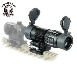 SINARSOFT тактический оптический прицел 3x лупа прицел компактный охота прицелы ж / флип в сторону откидная крышка для 20 мм винтовка железнодорожных крепление