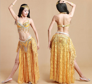 Caliente nuevo colorfull árabe Belly Dance Clothing Traje de danza del vientre Belly Dance Performance Coat + Hip Belt