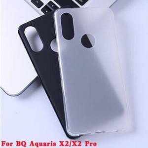 Meilleures ventes mat Case givré Pudding Couverture souple TPU pour BQ Aquaris X2 / X2 Pro