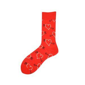Happy Funny High Socks Men Cotton Lover Section Heart Flowers Rose Originality Man Socks Dress Autumn Winter Pattern2PCS=1PAIRS