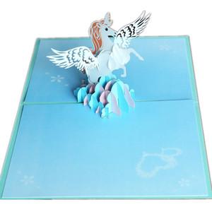 Boynuzlu at doğum günü partisi süslemeleri unicorn parti malzemeleri çocuklar tebrik kartları doğum günü partisi iyilik 3D doğum günü ...