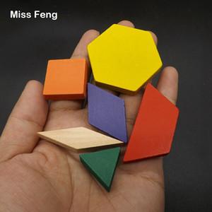 60 قطع ملون هندسة tangrams المنطق الألغاز ألعاب خشبية الأطفال تدريب الدماغ الذكاء ألعاب أطفال هدية عيد الميلاد هدية
