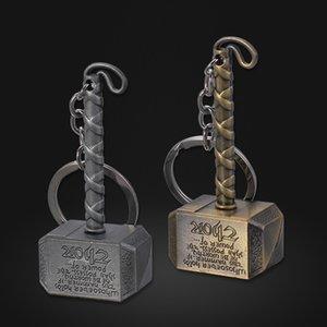 Film d'accessoires européens et américains 2018 Avenger League Porte-clés marteau dieu tonnerre marteau THOR marteau