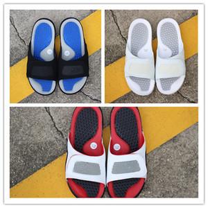 Commercio all'ingrosso nuovo 4 iv pantofole bianco blu Sandali morbidi scarpe da ginnastica all'aperto scarpe sportive da passeggio uomini scarpe da basket di buona qualità taglia 36-46