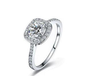 En çok satan 925 Ayar Gümüş Düğün Parti Yüzükler kübik zirkonya Yüzük Fit Suit Kadınlar Pandora ile güzel takı toptan KKA1931