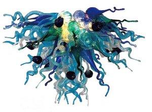 Mini lámpara de cristal soplada a mano de calidad superior con vidrio colgantes lámparas decorativas de cristal de Murano del hotel decorativo de uvas