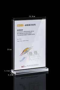 A5 Clear acrylic T-type table card display wine water card advertising poster display stand holder racks 10PCS pack