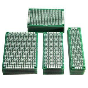 40PCS مزدوج FR-4 PCB 2.54mm المطبوعة حلبة الجانبية النموذج المجلس