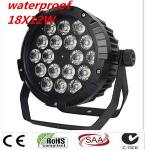 IP65 방수 18x12Wled 파 조명, RGBW 4IN1 LED PAR DMX512 제어 전문 무대 DJ 장비 디스코 4 개 / 많은 조명