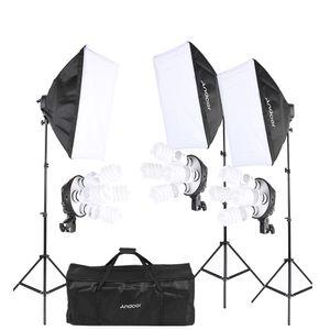 Venda Por Atacado Photo Studio Kit Acessórios Retrato Produto Fotografia Luz Iluminação Tenda Kit Equipamentos Fotográficos 45W Lâmpada Softbox etc.