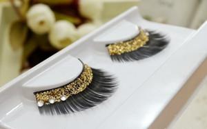 20 paires strass Faux cils épais Curl Honorable Golden brillant cils brillants maquillage livraison gratuite et de haute qualité
