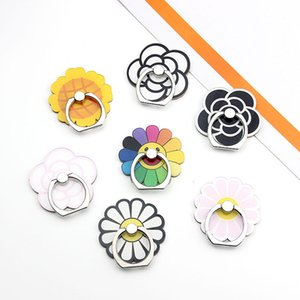 Universal Mobile Phone Ring bracket Camellia sunflower acrylic ring buckle Mobile phone bracket