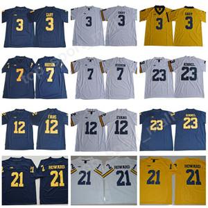 Men College 3 Rashan Gary Jersey Michigan Wolverines Football Legend 7 Khaleke Hudson 12 Chris Evans 23 Tyree Kinnel 21 Desmond Howard