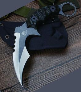 wholesale Large karambit push knife karambit push knife Christmas Halloween Holiday gifts pocket knivest Free shippingWood handle push knife