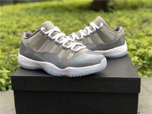 Top Qualité 11 Bas Cool Gris Hommes Chaussures De Basket-ball 11s De Pâques En Fiber De Carbone Sport Entraîneurs Sneaker 528895-003 Taille 7-13