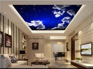 천장에 대한 벽지 5d 사용자 정의 bedroomred 벽지에 대한 흰 구름 천장 벽지 chinese style ceiling