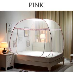 Yurta pieghevole zanzariera a maglia fine tenda a baldacchino rete per letto matrimoniale a castello zanzara rosa a rete per arredamento camera ragazze ciel de lit