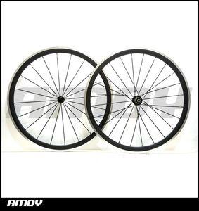 합금 제동 표면 700 c 38 mm 탄소 섬유 클린 처로드 자전거 자전거 바퀴와 Novatec 허브 사이클링 바퀴 세트