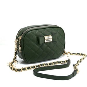 Nuevo estilo de alta calidad nueva moda minimalista Crossbody PU bolsa mujeres Shoulderbag messenger diamond cadena mini pajarita bolsas para mujeres