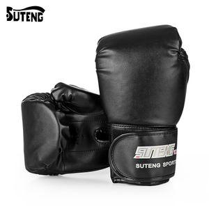 SUTENG 1 paire PU Boxe Kickboxing Gants de formation Se battre pour Sandbag Fighter MMA Gants de boxe fitness Équipement