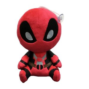 etiketiyle Q Versiyon 20 cm X-men hakiki Deadpool peluş bebek Deadpool aksiyon figürleri filmi 8 inç peluş oyuncak