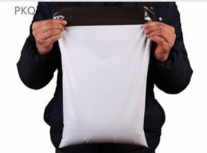 100pcs 25 * 35 centímetros Mercadorias sacos para embalagem Branco Courier porte Poly Divulgação Embalagem Sacos autoadesivos do correio expresso malotes