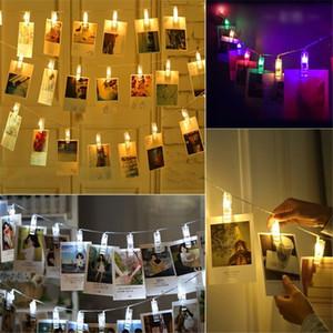 Led Fotoğraf Klip Işıkları Fotoğraf Klip Tutucu LED Dize işıklar Noel Için Yeni Yıl Partisi Düğün Ev Dekorasyon Peri ışıkları Pil