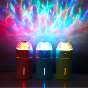 LED Magic Light Humidifier Mini Escritorio Air Humidifier Diffuser USB automático Power-Off Mist Maker Fogger para el hogar