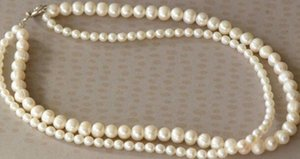 LLCultured 2 STRAND WHITE Pearl NECKLACE