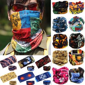 Outdoor Radfahren Schal Maske Magie Turban Sonnencreme Haarband Nahtlose Halstuch Freizeit multifunktionale Stirnband Weihnachten Masquerade HH7-1335
