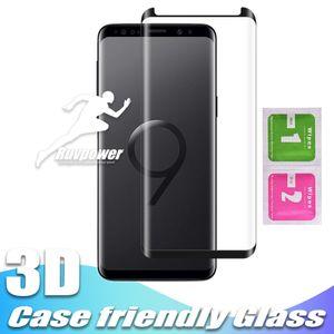 Дело Дружественные закаленное стекло для Samsung Galaxy Note 20 S9 Примечания-8 S8 Plus S7 Пограничного S10 S20 плюса без упаковки