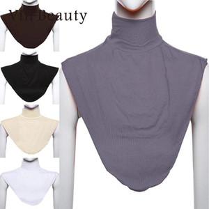 Vin Beauty Frauen Muslim Stretch Elastische Verstellbare Abnehmbare Kragen Gefälschte Kragen Chiffon Bluse Hemd Revers Tops Zubehör