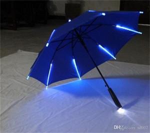 Guarda-chuva de Lâmina de Guarda-chuva de Lâmina de Luz Noturna de LED Guarda-chuva Anticorrosivo Novidade Paraguas Para Festa Novidades Decorações Muitas Cores 38jn ZZ