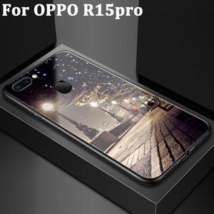 Милый мультфильм закаленное стекло задняя крышка для OPPO R15pro защитные чехлы OPPOR15pro чехол для OPPO R15 pro крышка Коке кожи