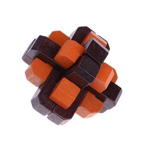 아이 나무 장난감 Luban 잠금 전통적인 잠금 해제 완구 아이 두뇌 티저 초기 지적 개발 장난감